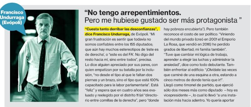 Francisco Undurraga es una de las «tres promesas de la Cámara de Diputados» según diario La Segunda