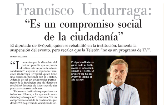 «La Teletón es un compromiso social con la ciudadanía»