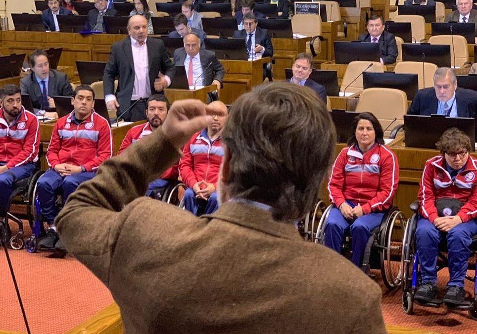 Homenajeando a los héroes de Lima 2019 en la Cámara de Diputados