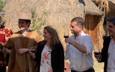 Inaugurando la XXV Semana de la Chilenidad en Parque Padre Hurtado