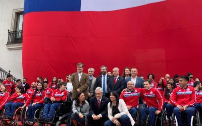 Homenaje en La Moneda a nuestros grandes deportistas de los Parapanamericanos